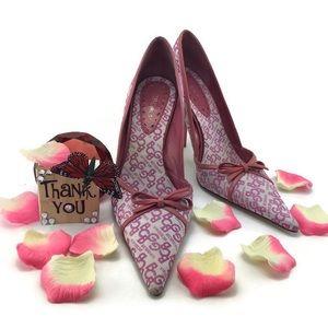 BCBG Pink Pointed Heels Size 8B